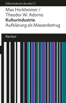 Max Horkheimer: Kulturindustrie, Buch