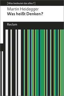 Martin Heidegger: Was heißt Denken?, Buch