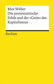 Max Weber: Die protestantische Ethik und der »Geist« des Kapitalismus, Buch