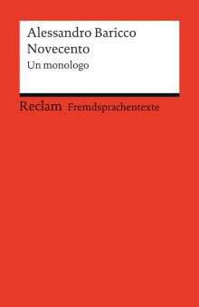 Alessandro Baricco: Novecento, Buch