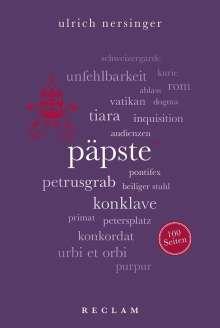 Ulrich Nersinger: Päpste. 100 Seiten, Buch