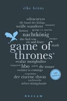 Elke Brüns: Game of Thrones. 100 Seiten, Buch