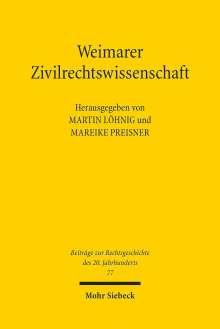 Weimarer Zivilrechtswissenschaft, Buch