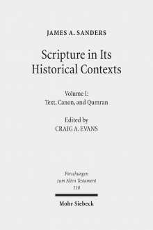 James A. Sanders: Scripture in Its Historical Contexts, Buch