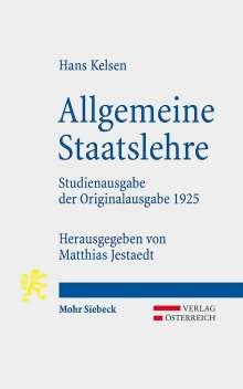 Hans Kelsen: Allgemeine Staatslehre, Buch