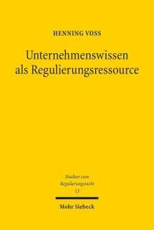 Henning Voß: Unternehmenswissen als Regulierungsressource, Buch
