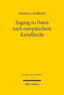 Stefan A. Schmidt: Zugang zu Daten nach europäischem Kartellrecht, Buch