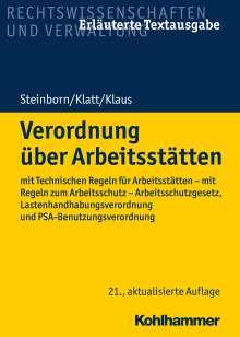 Volker Steinborn: Verordnung über Arbeitsstätten, Buch