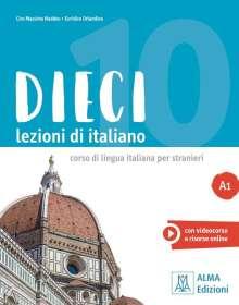 Ciro Massimo Naddeo: Dieci A1. Dieci A1/Kurs- Arbeitsbuch mit DVD-ROM, Buch