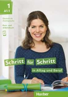 Daniela Niebisch: Schritt für Schritt in Alltag und Beruf 1/ Kursbuch + Arbeitsbuch, Buch