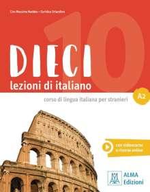 Ciro Massimo Naddeo: Dieci A2. Kurs- und Arbeitsbuch mit DVD-ROM, Buch