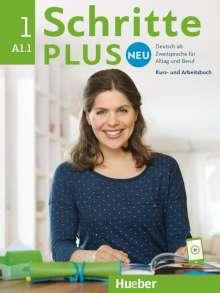 Monika Bovermann: Schritte plus Neu 01. Kursbuch+Arbeitsbuch+CD zum Arbeitsbuch, Buch