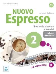 Maria Balì: Nuovo Espresso 2 - einsprachige Ausgabe. Buch mit Code, 1 Buch und 1 Diverse
