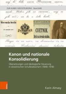 Karin Almasy: Kanon und nationale Konsoldierung, Buch