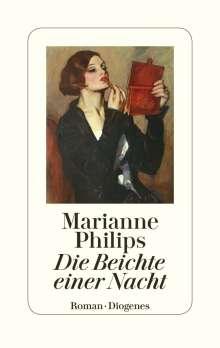 Marianne Philips: Die Beichte einer Nacht, Buch