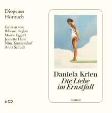 Daniela Krien: Die Liebe im Ernstfall, 6 CDs