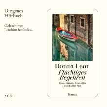 Donna Leon: Flüchtiges Begehren, 7 CDs