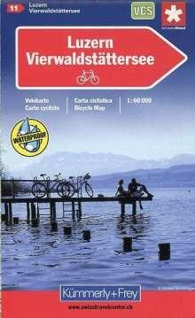 Schweiz Radkarte 11 Luzern - Vierwaldstätter See 1 : 60 000, Diverse
