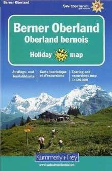 KuF Schweiz Holiday Map Berner Oberland 1 : 120 000, Diverse