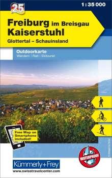 KuF Deutschland Outdoorkarte 25 Freiburg im Breisgau - Kaiserstuhl 1 : 35.000, Diverse