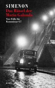 Georges Simenon: Das Rätsel der Maria Galanda, Buch