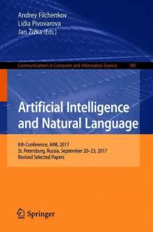 Artificial Intelligence and Natural Language, Buch