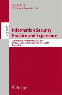 Information Security Practice and Experience, Buch
