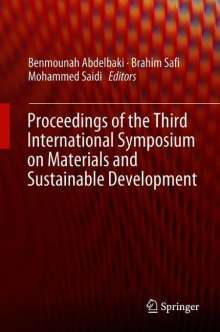 Proceedings of the Third International Symposium on Materials and Sustainable Development, Buch