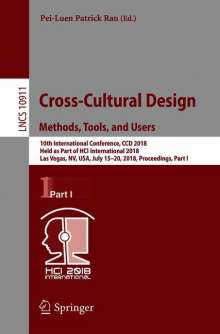 Cross-Cultural Design. Methods, Tools, and Users, Buch