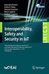 Interoperability, Safety and Security in IoT, Buch