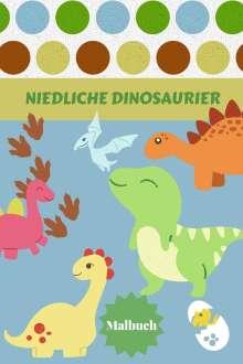 Alissia T. Press: Niedliche Dinosaurier Malbuch, Buch