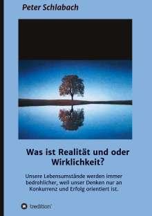 Peter Schlabach: Was ist Realität und/oder Wirklichkeit?, Buch