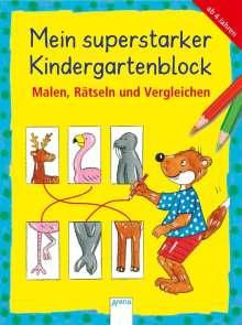 Friederike Barnhusen: Mein superstarker Kindergartenblock. Malen, Rätseln und Vergleichen, Buch