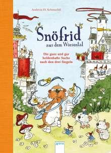Andreas H. Schmachtl: Snöfrid aus dem Wiesental (4). Die ganz und gar heldenhafte Suche nach den drei Siegeln, Buch