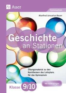 Manfred Bauer: Geschichte an Stationen 9-10 Gymnasium, Buch