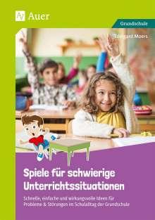 Edelgard Moers: Spiele für schwierige Unterrichtssituationen, Buch