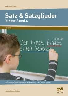 Alexandra von Plüskow: Satz & Satzglieder - Klasse 3 und 4, Buch