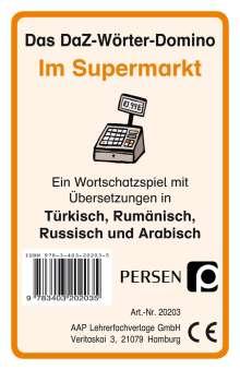 Klara Kirschbaum: Das DaZ-Wörter-Domino: Im Supermarkt, Diverse