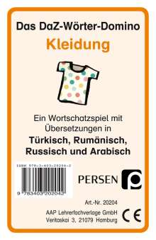 Klara Kirschbaum: Das DaZ-Wörter-Domino: Kleidung, Diverse