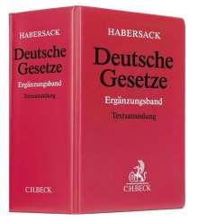 Deutsche Gesetze (ohne Fortsetzungsnotierung). Inkl. 158. Ergänzungslieferung, Buch