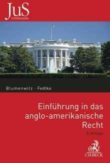 Dieter Blumenwitz: Einführung in das anglo-amerikanische Recht, Buch