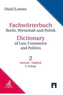 Egon Lorenz: Wörterbuch für Recht, Wirtschaft und Politik 2. Deutsch - Englisch, Buch