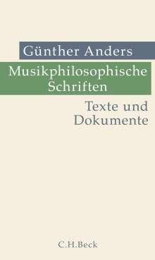 Günther Anders: Musikphilosophische Schriften, Buch