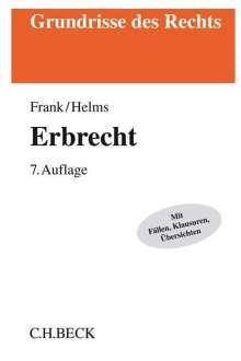 Rainer Frank: Erbrecht, Buch