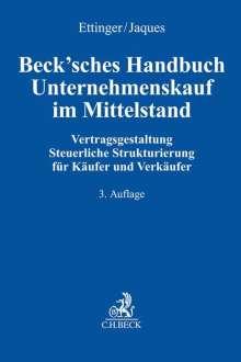 Beck'sches Handbuch Unternehmenskauf im Mittelstand, Buch