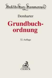 Johann Demharter: Grundbuchordnung, Buch