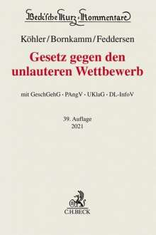 Helmut Köhler: Gesetz gegen den unlauteren Wettbewerb, Buch