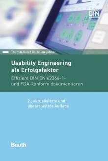 Thomas Geis: Usability Engineering als Erfolgsfaktor, Buch