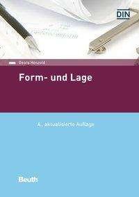Georg Henzold: Form und Lage, Buch