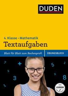 Ute Müller-Wolfangel: Übungsblock: Mathematik - Textaufgaben 4. Klasse, Buch